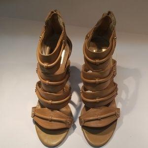 Tan High Heel Sandals